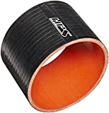 "HPS HTSC-400-BLK Silicone High Temperature 4-Ply Reinforced Straight Coupler Hose, 65 PSI Maximum Pressure, 3"" Length, 4"" ID, Black"