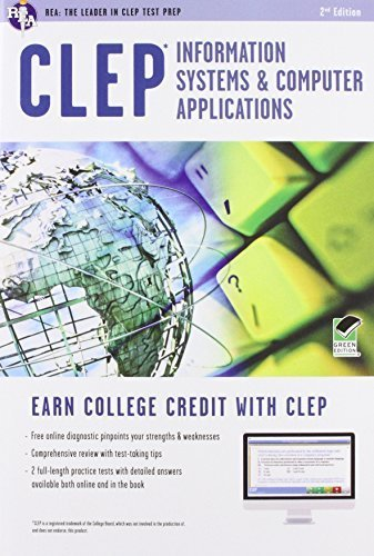 CLEP Information Systems & Computer Applications Book + Online (CLEP Test Preparation) by Dhanda, Naresh (2012) Paperback