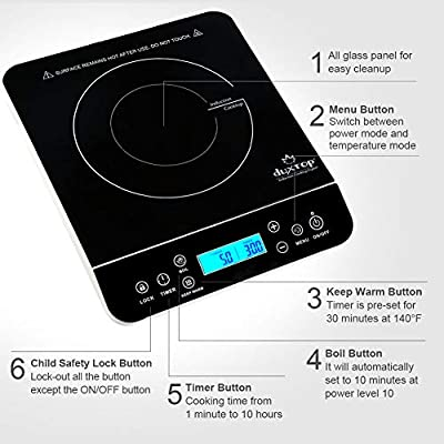 Amazon.com: Duxtop Portable Induction Cooktop, Countertop ...