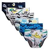 Boboking Little Boys Briefs Dinosaur Truck Toddler Kids Underwear (Pack of 6) 2T/3T