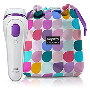 Braun Silk·expert 3 IPL Hair Removal BD 3006, White/Violett + Limited Edition Kapitza Product Pouch