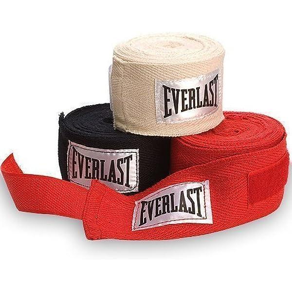 Everlast 4455-3 Vendas para Manos, Adultos Unisex, Rosso, 108 Inch: Amazon.es: Deportes y aire libre