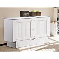 Arason Enterprises Creden-ZzZ Queen Cabinet Bed in Cottage White