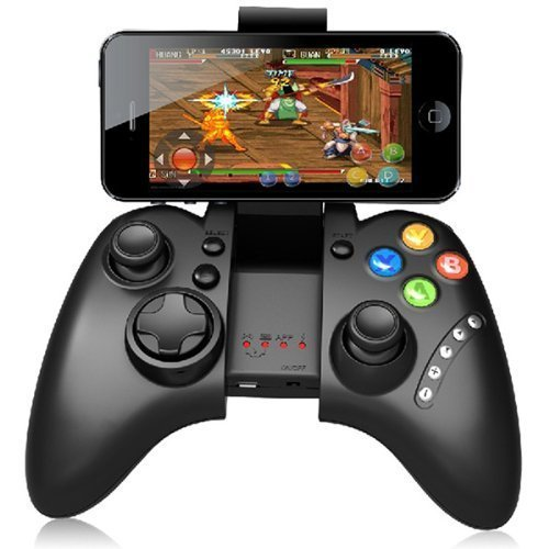 Geekercity Universal Wireless Bluetooth Gamepad Game Controller Joystick joypad Supports Android 3.2 IOS 4.3 Above System PC Games (Bluetooth Para Tv Samsung)