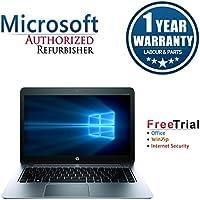 HP EliteBook Folio 1040 Laptop 14 (Intel Core i5-4300U 1.9G,4G RAM DDR3,128G SSD(MSATA ) ,Windows 10 Professional)(Certified Refurbished)