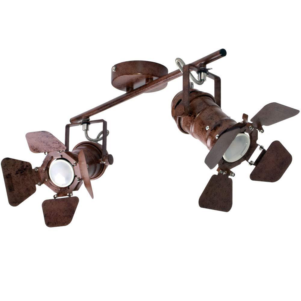 R/étro style plafonnier salon spot /éclairage rouille couloir projecteur r/églable Globo 54650-2