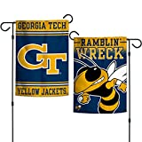 "Elite Fan Shop Georgia Tech Yellow Jackets 12.5""x18"" Garden Flag - Navy"