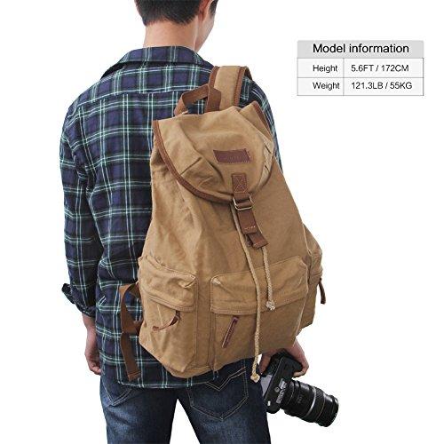 Koolertron Canvas Vintage Camera Backpack