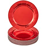ELEGANT RED DISPOSABLE CHRISTMAS CHARGER PLATES
