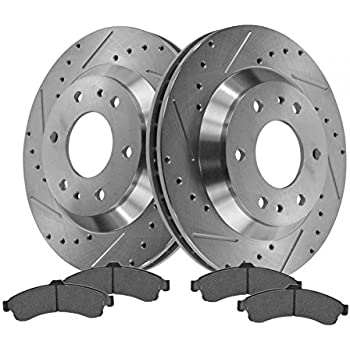 amazon front performance drilled slotted brake rotor posi 2005 Isuzu Ascender Cluster Recall front performance drilled slotted brake rotor posi metallic