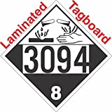 GC Labels-T303c3094, Corrosive Class 8 UN3094 Tagboard DOT Placard, Package of 50 Placards