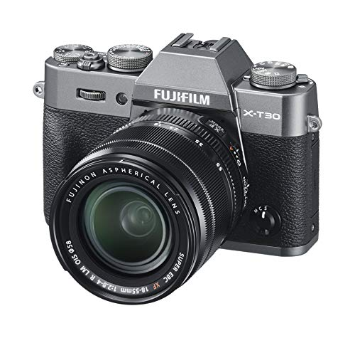 Fujifilm X-T30 Mirrorless Digital Camera, Charcoal Silver with Fujinon XF18-55mm F2.8-4 R LM Optical Image Stabiliser Lens kit