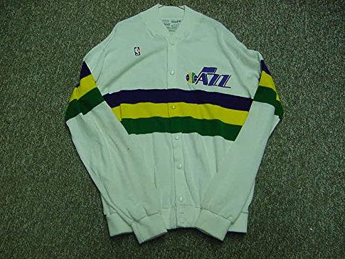 (Melvin Turpin Utah Jazz 1985-1990 Home White Game Worn Jersey )