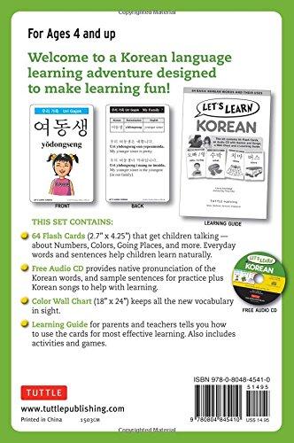 Let's Learn Korean Kit: 64 Basic Korean Words and Their Uses ...
