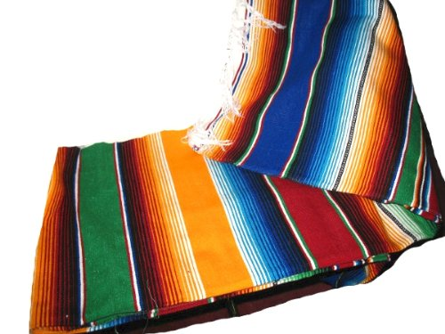 Large Authentic Mexican Blankets Colorful Serape Blankets Assorted]()