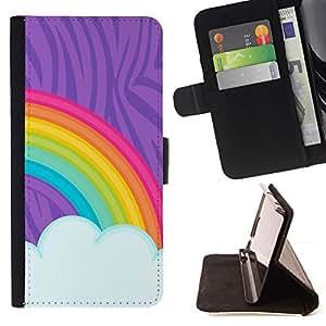Pintura del arco iris LGBT Derechos Gay Arte- Modelo colorido cuero de la carpeta del tirón del caso cubierta piel Holster Funda protecció Para Sony Xperia M2