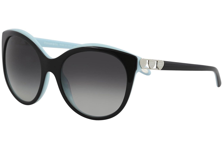 221ab4356a Amazon.com  TIFFANY   CO. TF4133 - 80553C Sunglasses Black Blue W  Grey  Gradient Lens 56mm  Clothing