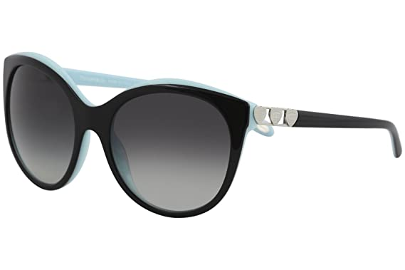 9695dff04f Image Unavailable. Image not available for. Color  Tiffany TF4133 8055 3C  Black Blue TF4133 Round Sunglasses Lens Category 3 Size