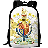 ZQBAAD Coat Of Arms Of The United Kingdom Luxury Print Men And Women's Travel Knapsack