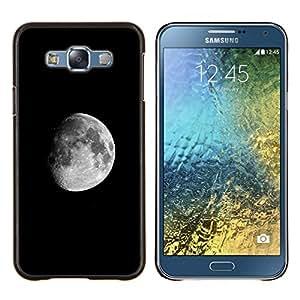 Qstar Arte & diseño plástico duro Fundas Cover Cubre Hard Case Cover para Samsung Galaxy E7 E700 (Luna oscura)