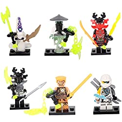 Shalleen Ninjago NINJA Yang Pythor General Zane Building Bricks 6 Mini figures Toys