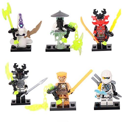 Costumes Zane (Shalleen Ninjago NINJA Yang Pythor General Zane Building Bricks 6 Mini figures Toys)