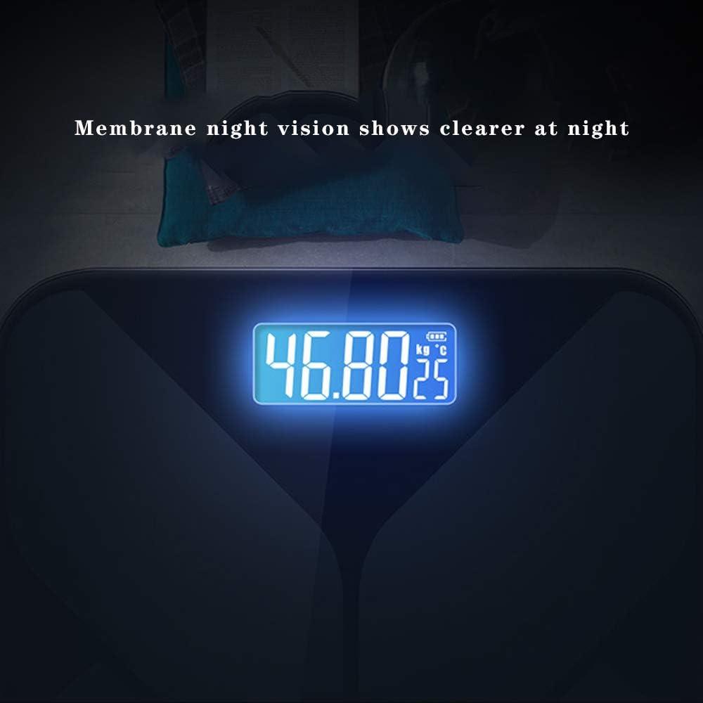 NCBH Poids /électronique Intelligent Balance Balance de Graisse du Corps Humain Utilisation /Écran LCD Haute luminosit/é pour Lire des donn/ées Au Cours de Jour et de Nuit