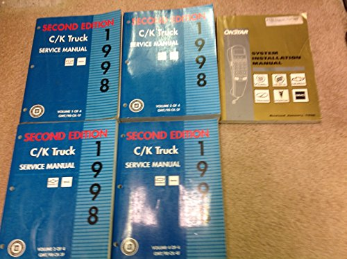 1998 Chevy CK TRUCK Chevrolet Suburban Tahoe Silverado Sierra Truck Service Shop Repair Manual Set