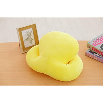 Almohada del Juguete de la Felpa del Animal de la Historieta, Almohada rellena de la muñeca de la muñeca del tiburón, Almohada de la sofá de los niños, decoración casera los 37cm (Amarillo): Juguetes y juegos