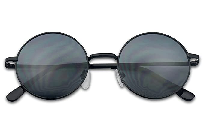 3f36b1958a Image Unavailable. Image not available for. Color  Sunglass Stop - Super  Small Penny Round Dark Black John Lennon Harry Potter Vitnage Sunglasses (