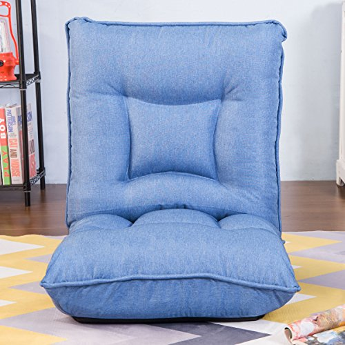 51X7LPh9WuL - HarperBright-Designs-Adjustable-5-Position-Folding-Floor-Gaming-Chair-Sofa-Lounger-Bed