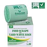 ProGreen 100% Compostable Bags 6 Gallon, Extra