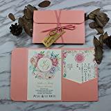 Picky Bride Pink Wedding Invitations Bridal Shower Invitation - Set of 50 pcs