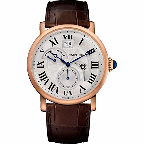 Cartier Rotonde Retrograde 18K Pink Gold Automatic Mens 42mm WATCH W1556240