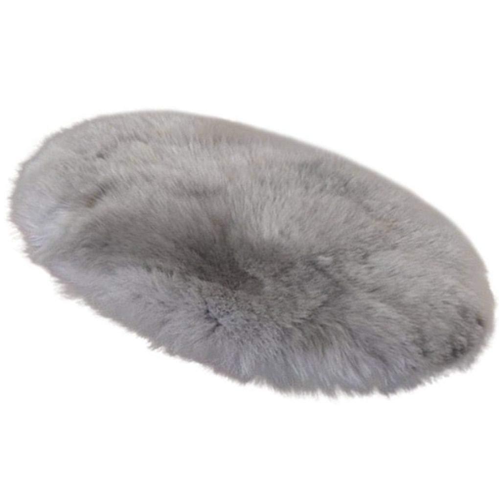 Floridivy 30cm Suave Terciopelo Alfombra Redonda Cubierta de la Silla del Asiento Mat Dormitorio c/álido Hairy Alfombra Textil Alfombras Coj/ín Manta