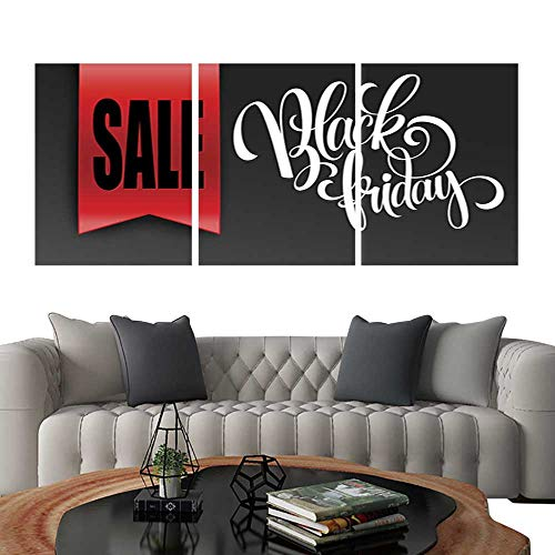 UHOO Triptych Art SetBlack Friday Sale Design Template Vector Illustration. Modern Wall Art for Living Room Decoration 12