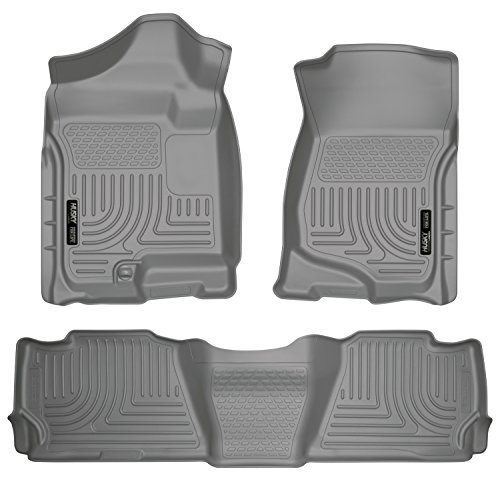 Husky Liners Front & 2nd Seat Floor Liners Fits 07-14 Suburban 1500/Yukon -