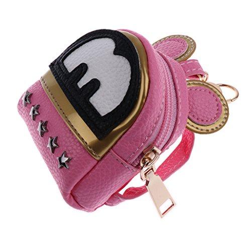 Prettyia Lovely Girl Doll Bag Backpack for 1/4 1/6 BJD Mell Chan 16inch Salon Doll Pink