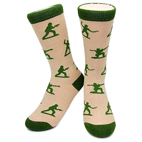 Army Men Socks by Neon Eaters - Kids  Womens & Mens Size Novelty  Funky  Fun  Soft Socks - 100  comfort guarantee  LARGE  W - Soldier American Shoes