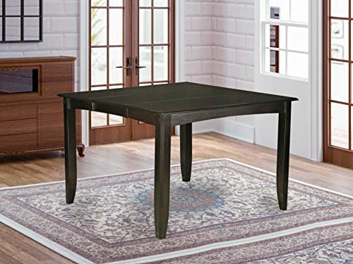 Fairwinds Gathering Counter Height Dining Square 54 Table with 18 Butterfly Leaf finished in Cappuccino