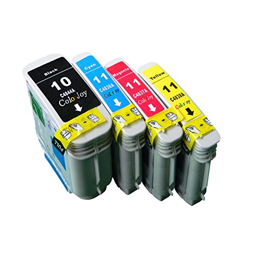 ColorJoy Compatible Ink Cartridge Replacement for HP C4844A ( Black,Cyan,Magenta,Yellow , 4-Pack -