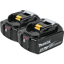 Makita Bl1850b-2 18v Lxt Lithium-ion 5.0ah Battery Twin Pack