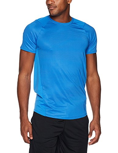 Under Armour Men's MK-1 Short Sleeve Shirt, Mediterranean (437)/Stealth Gray, Large