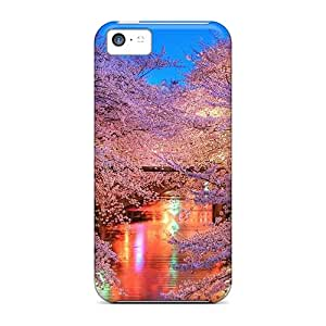 Awesome FOXbx18381vOASE Malailne Defender Tpu Hard Case Cover For Iphone 5c- Stunning Blooming Cherry Trees On A River