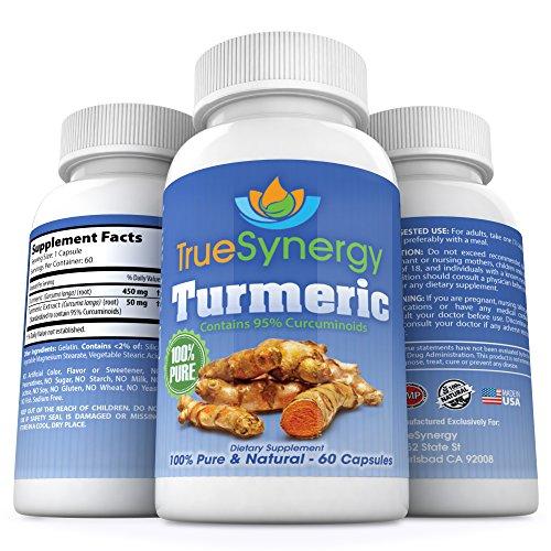 Vrai Synergy - Extrait de curcumine curcuma pure et puissante - 95% normalisés Curcuminoïdes