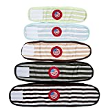 VIILER Pack of 4 Random Colors Reusable Diapers and Durable Dog Belly Bands for Small and Middle Male Boy Dogs (L - Adjustable Waist:12.4