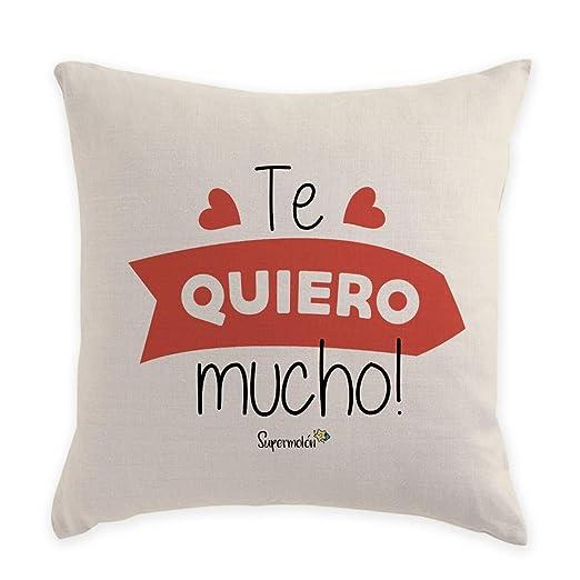 SUPERMOLON Cojín Personalizado Te Quiero Mucho: Amazon.es: Hogar