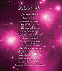 Believe in You - Motivational and Inspirational Luxury Greetings Cards by Clarabelle Cards 5 x 7 inches