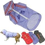 Pet Raincoat, HP95(TM) 2015 Pet Dog Rain Clothes, Waterproof, Raincoat Jackets for Large Dogs, Dog Hoodies (L, Red)