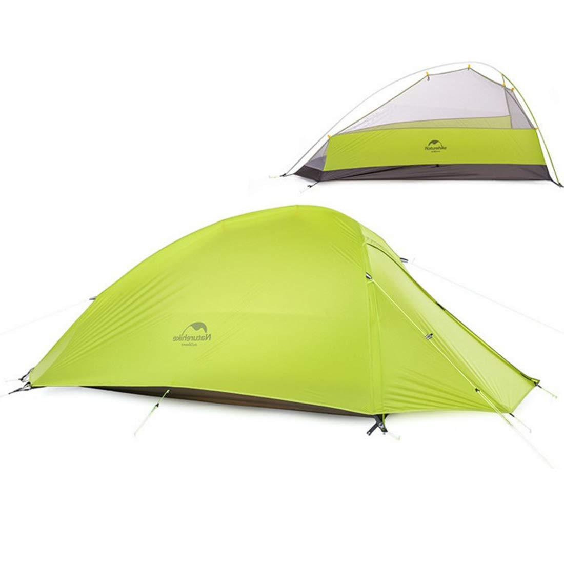 LilyAngel 一人用キャンプテント4シーズンダブルレインプロテクションバックパッキングテント屋外スポーツのために組み立てられる必要があります、ハイキング、釣り、キャンプ  A004 B07MXG1LHG